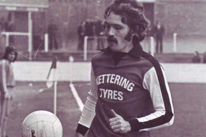 Kettering Town's football kit in 1976