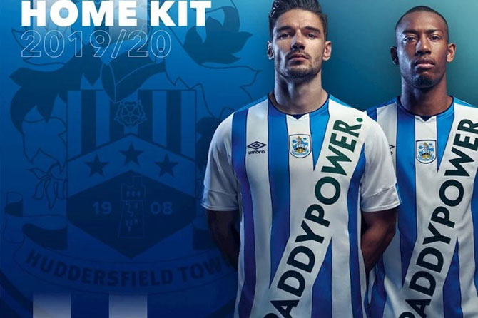Huddersfield Town's fake 2019/20 kit sponsored by Paddy Power