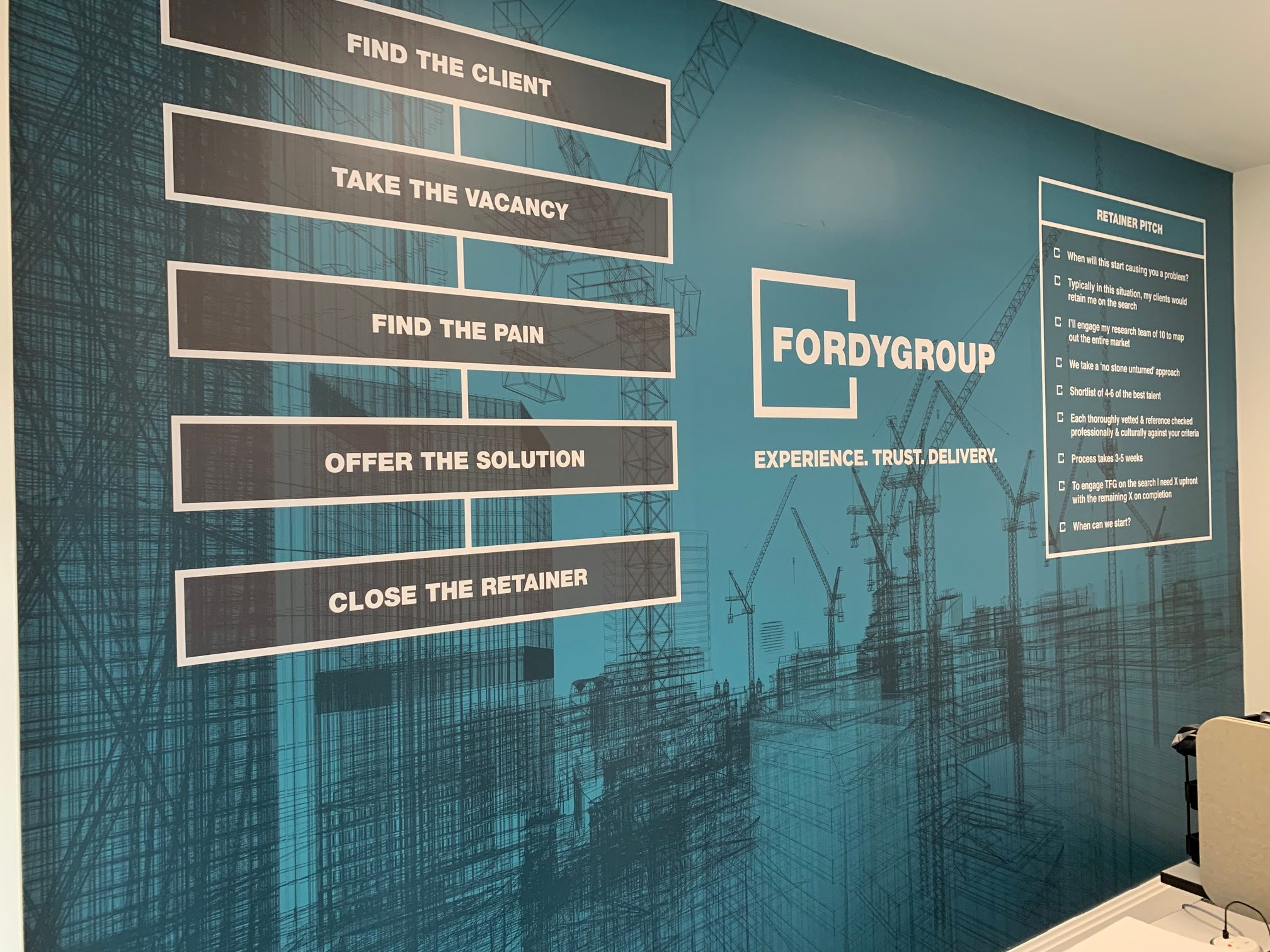 The Fordy Group Office Signage